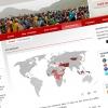 Première Urgence : mappemonde interactive Flash