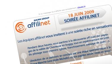 Affilinet : emailing évènementiel rando buggy