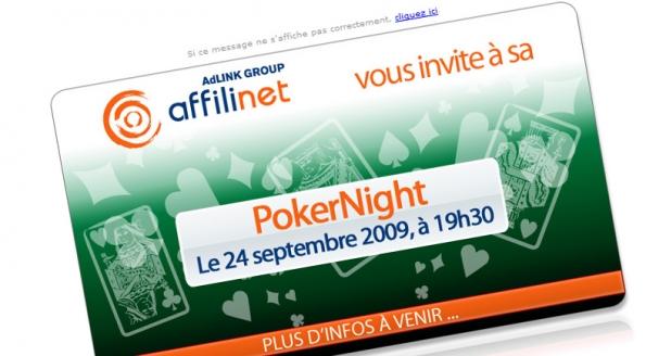 Affilinet : emailing évènementiel PokerNight