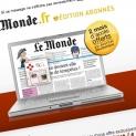 Lemonde.fr : emailing abonnés 2 mois offerts