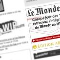 Lemonde.fr : bannière Flash abonnés