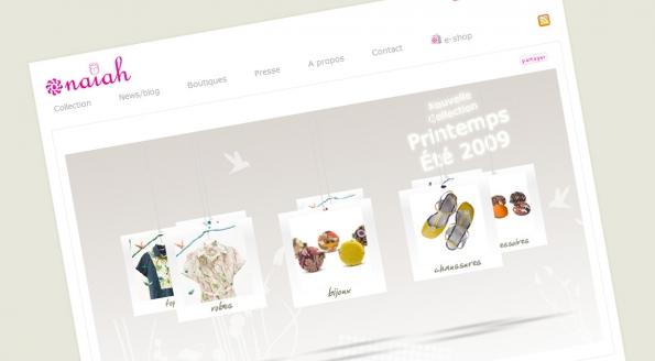 Naiah : site et blog corporate