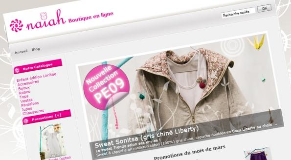 Naiah : e-shop / boutique en ligne