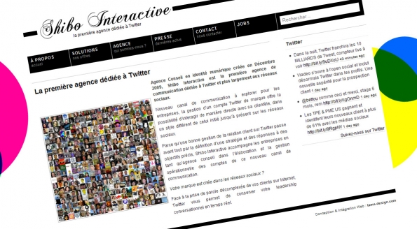 Shibo Interactive : site et blog corporate