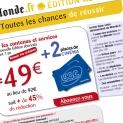 Lemonde.fr : emailing étudiants «toutes les chances de réussir»