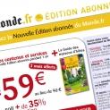 Le Monde.fr : emailing recrutement abonnés