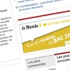 Le Monde.fr : bannires pour rsultats du BAC 2010