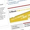 Le Monde.fr : bannières pour résultats du BAC 2010