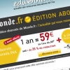 Le Monde.fr : bannire pour emailing INA.fr
