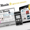 Le Monde.fr : emailing 1 mois offert au Journal Electronique (iPad iPhone Web)