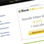 Lemonde.fr : déclinaisons de bannières autopromo (Flash et gif)