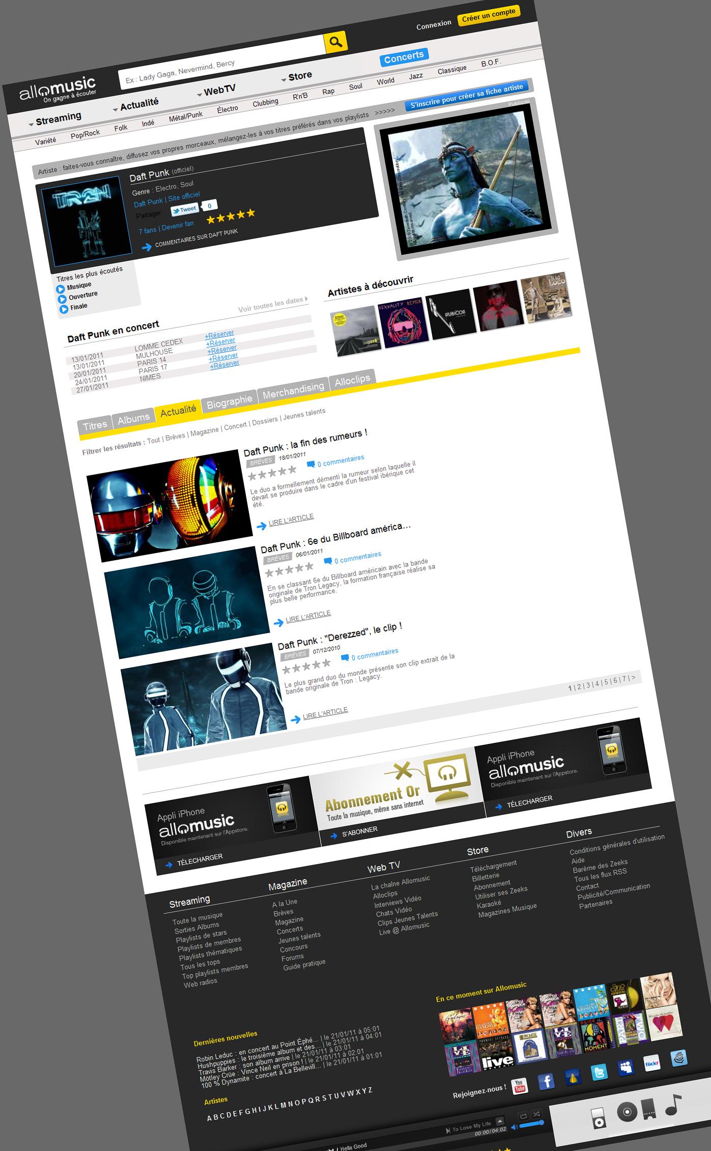 allomusic ecoute de musique gratuite gestion de projet conception int gration web. Black Bedroom Furniture Sets. Home Design Ideas